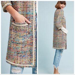 ANTHROPOLOGIE ett:twa Tweed Berwyn Rainbow Jacket